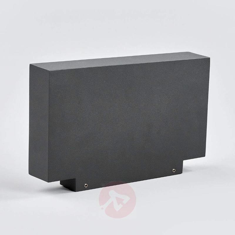 Dark grey LED wall uplighter Finja for outdoors - Outdoor Wall Lights