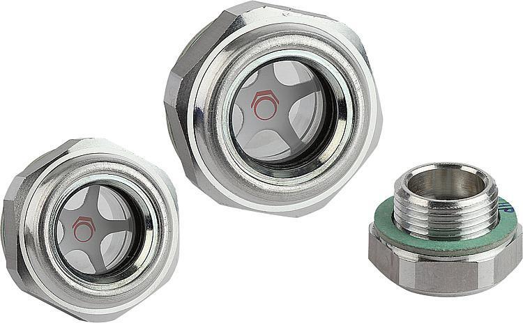 Mаслоуказатели алюминиевые с окошком из природного стекла - K0246