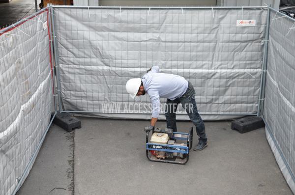 Bâche Acoustique - Bâche acoustique pour clôture de chantier