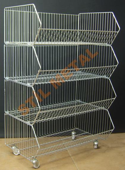 Wire Basket Display Trolley