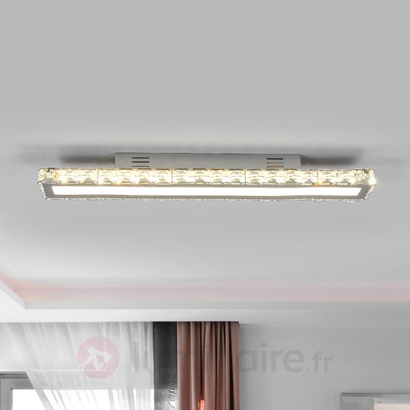 Sesilia - plafonnier en cristal avec LED - Plafonniers LED