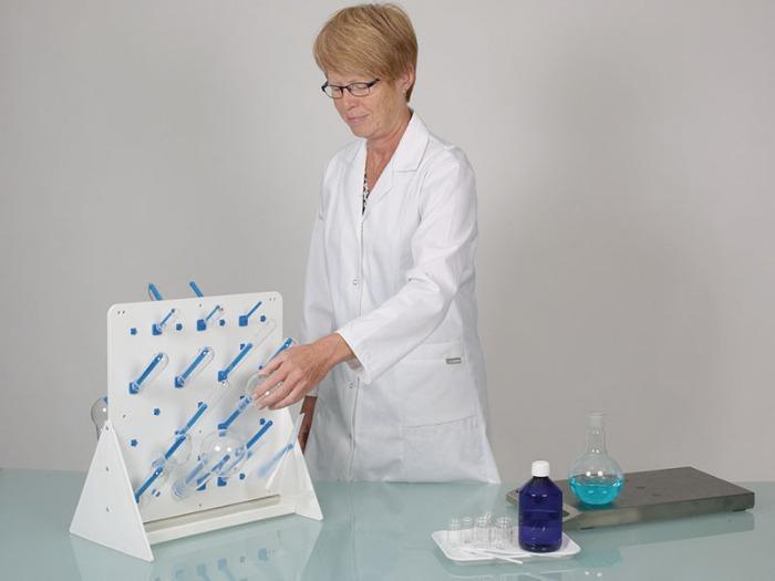 Egouttoir de paillasse - Matériel de laboratoire, séchage des récipients de laboratoire