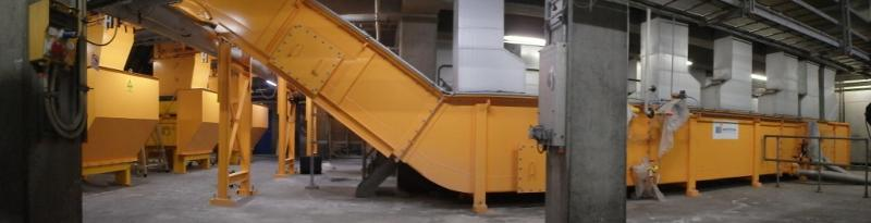 ASH CONVEYOR FOR MUNICIPAL WASTE - INFEED CONVEYORS FOR SCRAP AND SOLID WASTE SYSTEMS