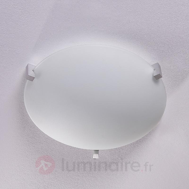 Fabrice - plafonnier en verre avec ampoule LED E27 - Plafonniers LED