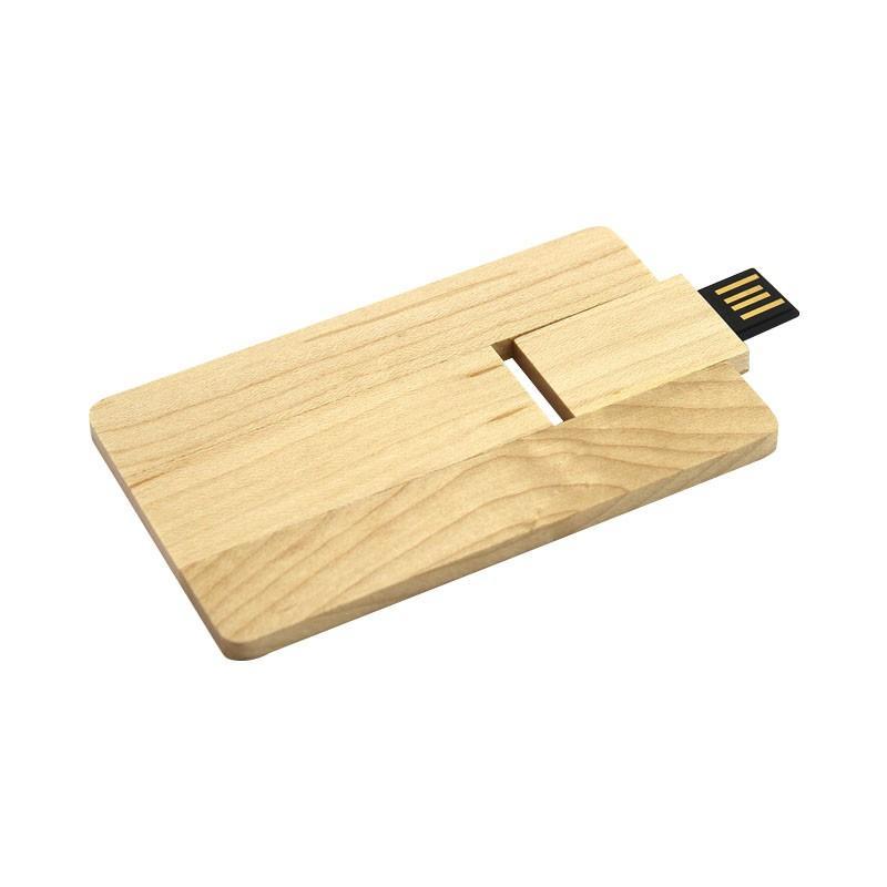 Carte Visite USB Bois - Clé USB Bois & Biodégradable