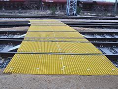 GFK-Gitterrost Gleisüberquerung - null