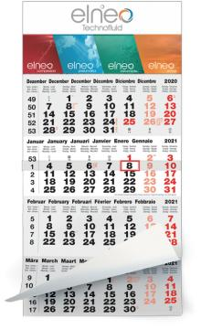 Calendriers 4 Mois - 4 Mois gris-rouge classic
