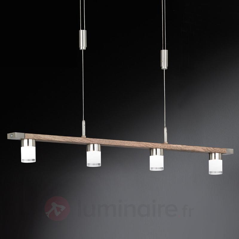 Suspension LED naturelle Forest à quatre lampes - Cuisine et salle à manger