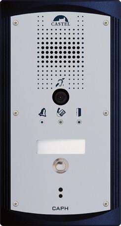 CAPH V1B - Portiers téléphoniques - Portier audio vidéo 1 bouton d'appel conforme loi Handicap