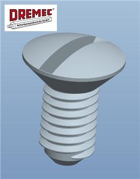 Slotted Counter Sunk Oval Head Screw - null