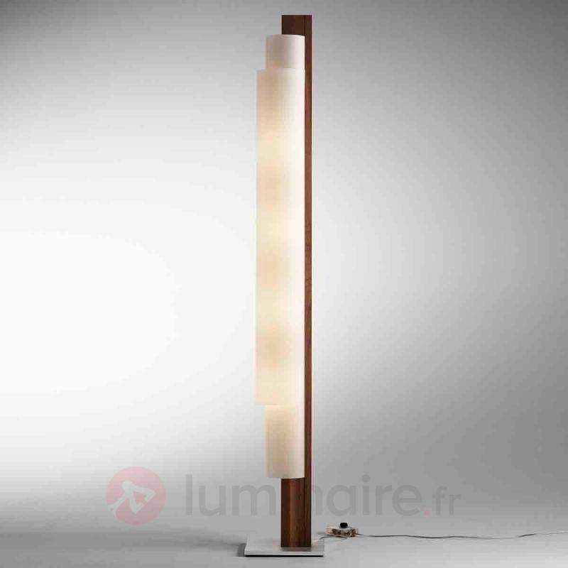 Lampadaire Stele hêtre avec variateur - Lampadaires en bois