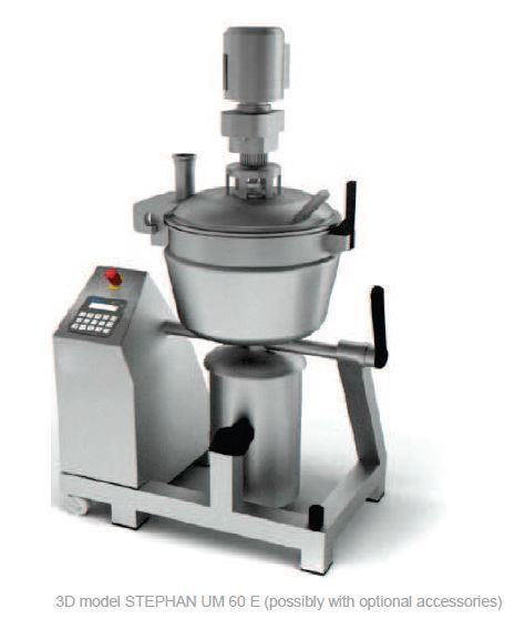 Cutter mélangeur broyeur chocolat ganache sous vide - STEPHAN UM60E
