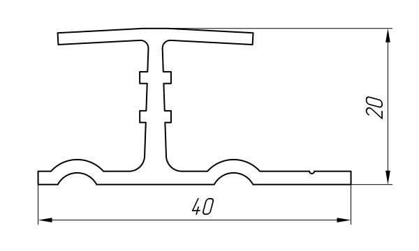 Aluminum Profile For Ventilated Facades Ат-2048 - Construction aluminum profile