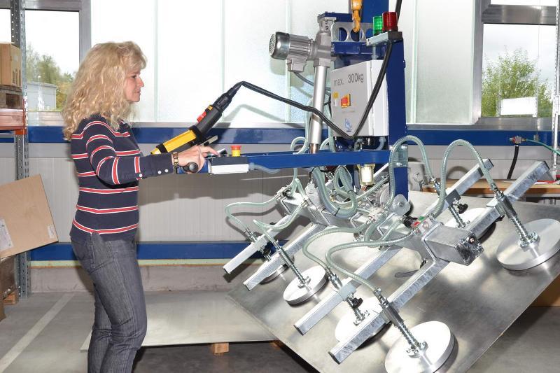 Vacuum lifter - pivoting 90° - null