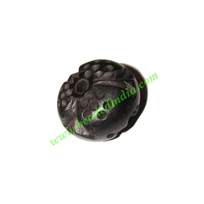 Wooden Ebony Beads, color black, size 15x24mm, weight approx - Wooden Ebony Beads, color black, size 15x24mm, weight approx 3.85 grams