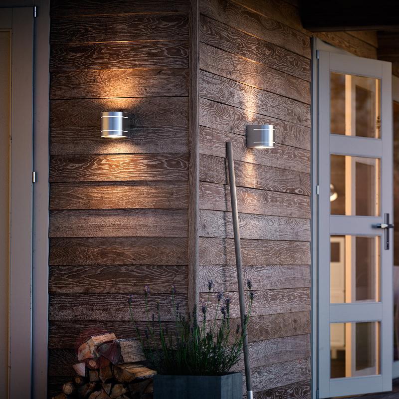Applique d'extérieur LED à 2 lampes Sunset - Appliques d'extérieur inox