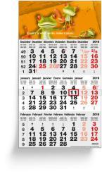 3-Monatsplaner - 3-Monats-Wandkalender Classic grau - 6-sprachige internationale Ausgabe