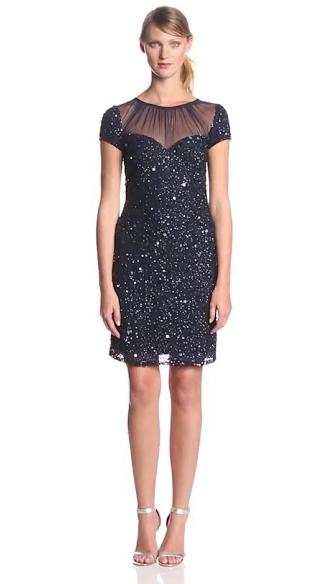 Ladies Short Sequin Hand Embroidery Dress