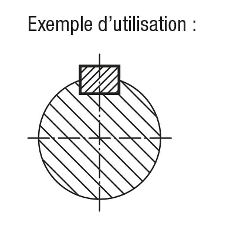 Clavette parallèle DIN 6885 A - Cales parallèles, lardons goupilles cylindriques