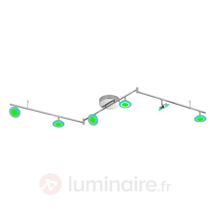 Plafonnier LED fonctionnel Gemma - 6 lampes - Appliques chromées/nickel/inox