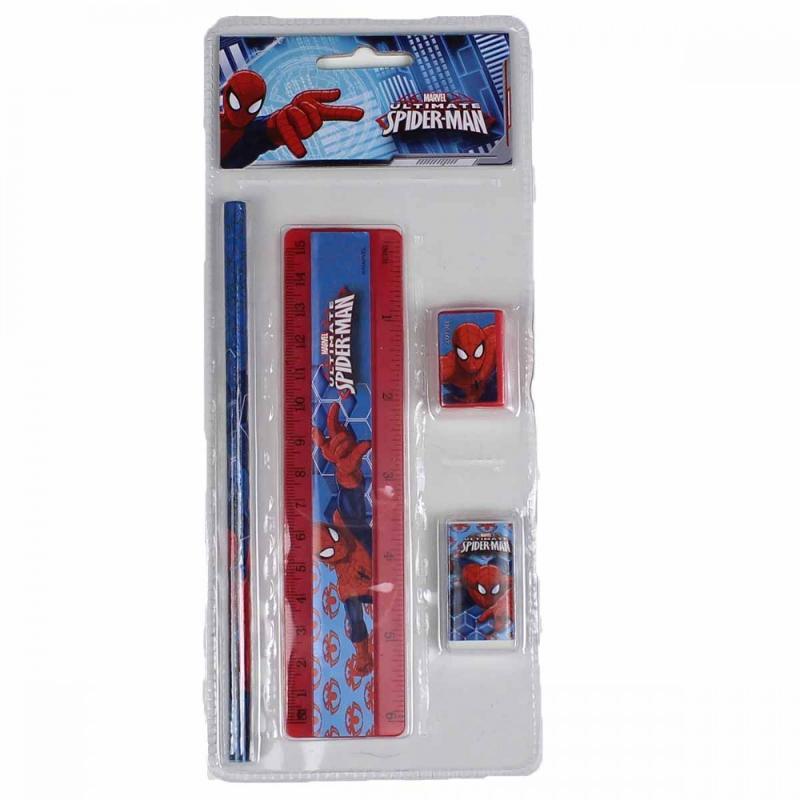 24x Sets papeterie 4 pièces Spiderman - Papeterie
