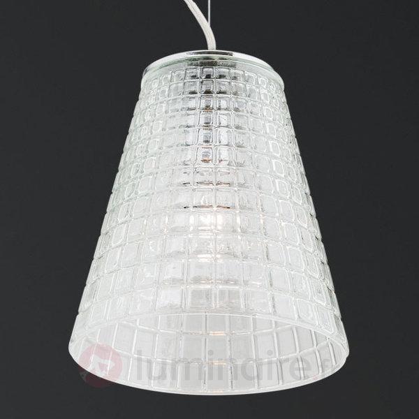 Suspension en verre facetté au diamant Sarala - Suspensions en verre