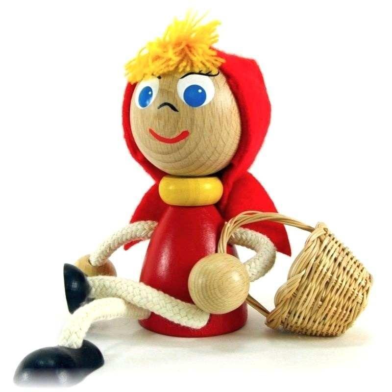 Dřevěná hračka Karkulka - Ručně malované dřevěné hračky špičkové kvality