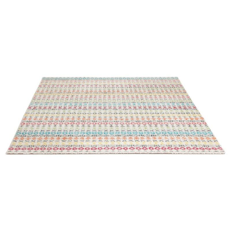 Tapis graphique rectangulaire SELINA (multicolore) - Voici le tapis de vos rêves qui apportera du peps à votre déco intérieure.