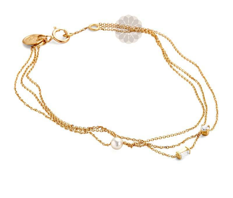 Layered Gold Anklet -