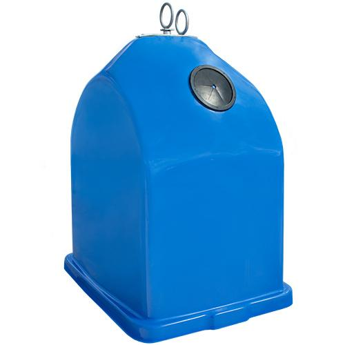 Overground waste & recycle bins  - manufactured from high density POLYESTER (FIBERGLASS)