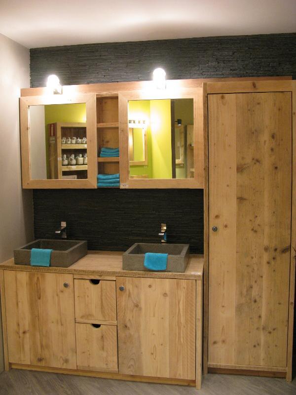 Badkamermeubelen steigerhout - null