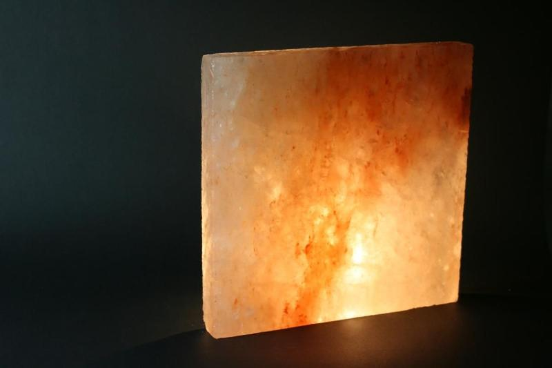 Crystal salt in the shape of bricks | 20x20x2,5 cm... - Reference: 2552