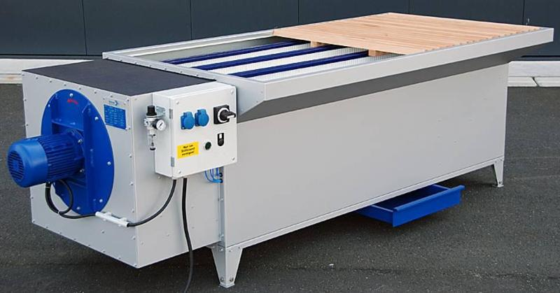 Grinding tables/booths - dedusting