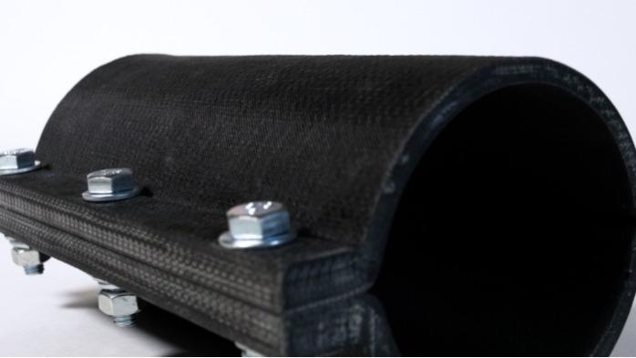 Fiberglass Repair Clamp - High-pressure repair clamp Ø 150 mm