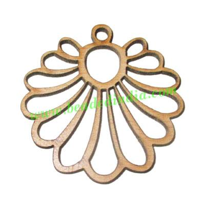 Handmade wooden pendants, size : 38x44x3mm - Handmade wooden pendants, size : 38x44x3mm