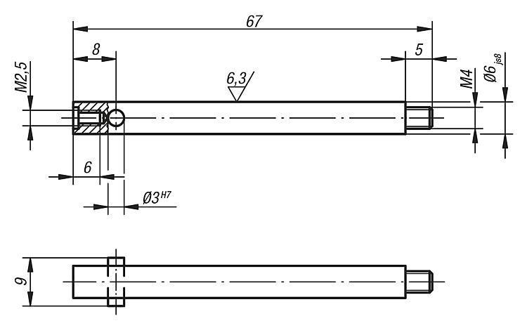 Porte touche pour CE et prolongateur - Eléments pour montage de contrôle