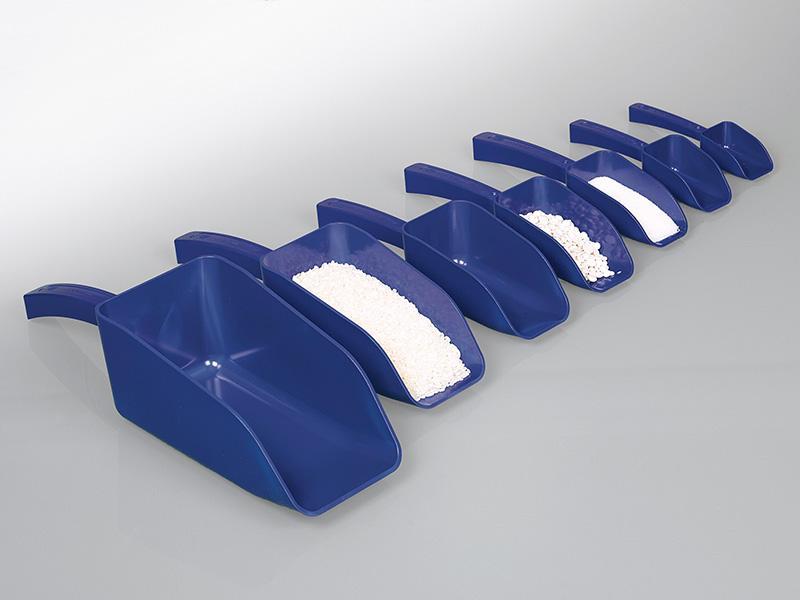 Detektierbare Schaufel, blau - ichtbar für Metalldetektoren oder Röntgenstrahlen, für die Lebensmittel-, Futter