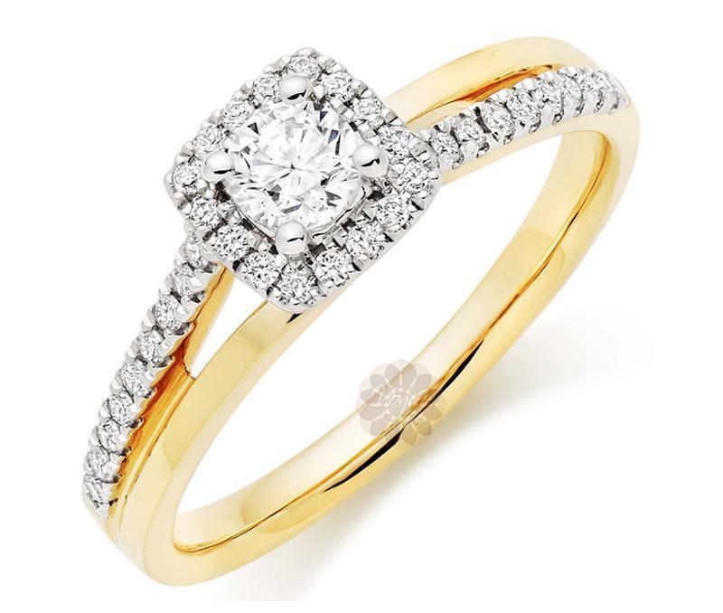 Crossover Diamond Ring -