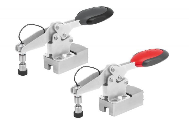 Schnellspanner Edelstahl horizontal m. Kraftsensor - Schnellspanner mit Kraftsensor für das Messen und Einstellen der Spannkraft