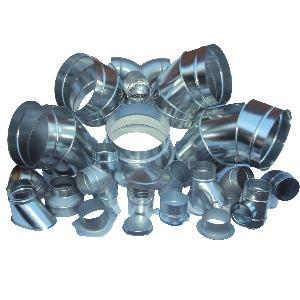 Spiral Ducting and Fittings - Fittings and Ducting for Spiral Ductwork in HVAC Systems