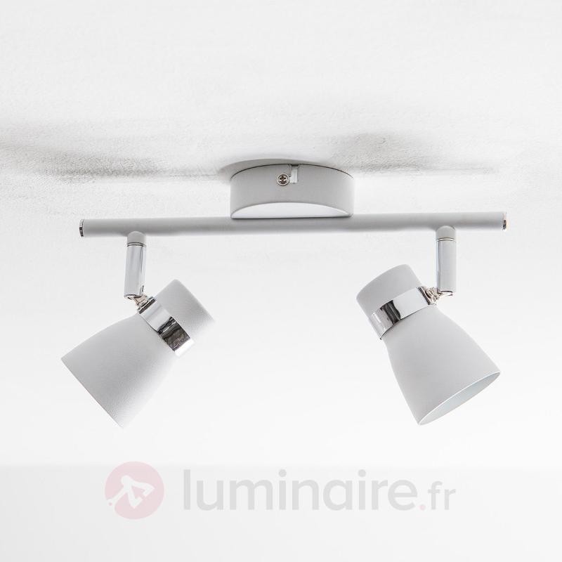 Arjen - Plafonnier LED à 2 lampes, blanc - Plafonniers LED