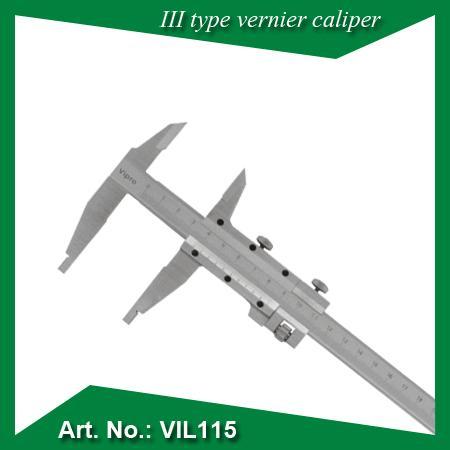 Type III vernier étrier - Résolution:0.05mm