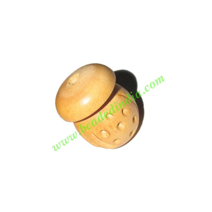 Natural Color Wooden Beads, size 18x23mm, weight approx 2.74 - Natural Color Wooden Beads, size 18x23mm, weight approx 2.74 grams