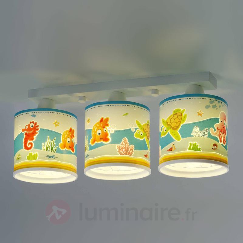 Adorable plafonnier Aquarium à trois lampes - Chambre d'enfant