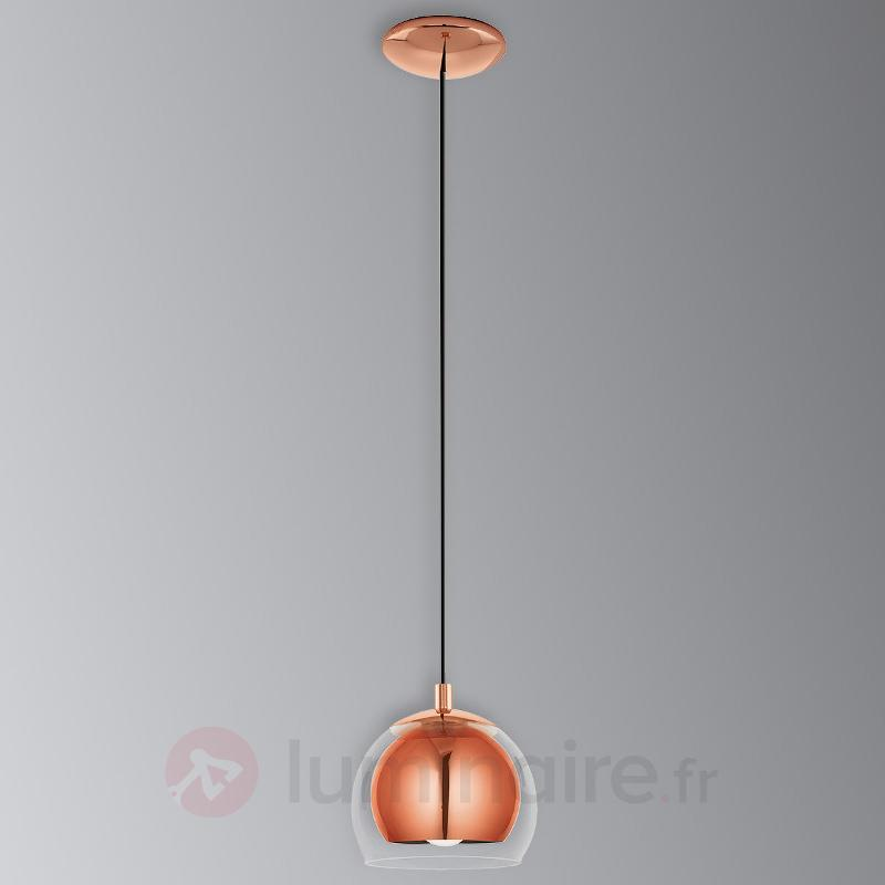 Suspension couleur cuivre Rocamar - Suspensions en verre