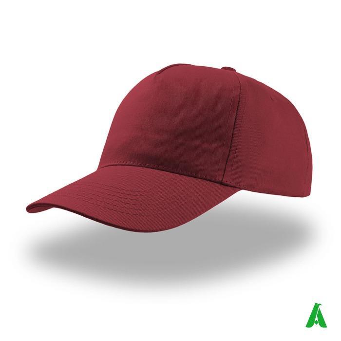 Cappello baseball estivo unisex con visiera - Cappello baseball estivo pubblicitario, con visiera, personalizzabile con logo