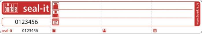 Precinto de seguridad seal-it - Transporte de las muestras, etiqueta de control