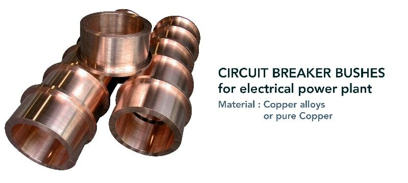 Circuit breaker bush - Electrical components - for electrical power plant