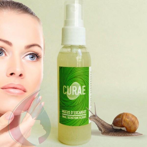 Mucus d'escargot pur Curae - Spray 60ml