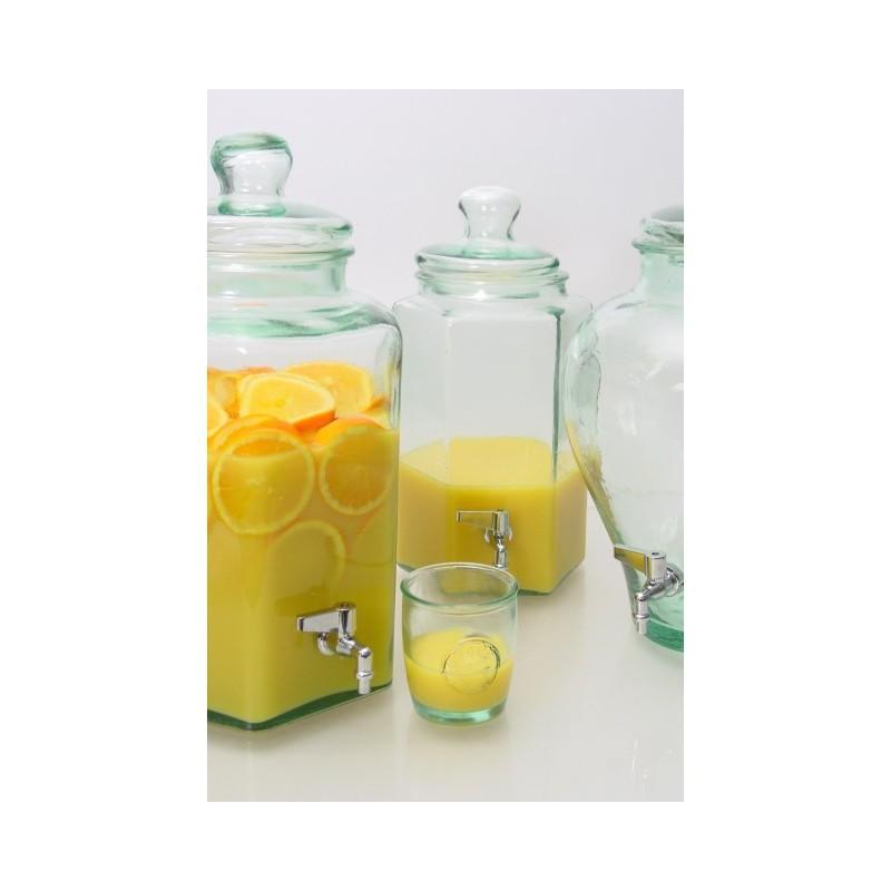 Bonbonne Hexagonale 11,5 litres en verre avec robinet - Bonbonnes et bonbonnières